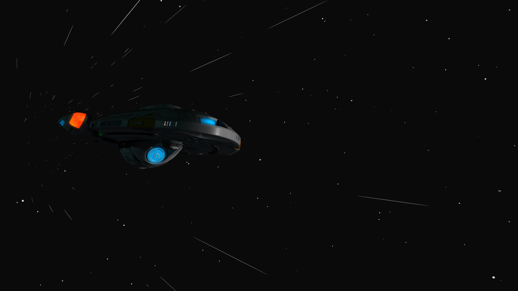 Interceptor class at Warp #1 by mavek-cg