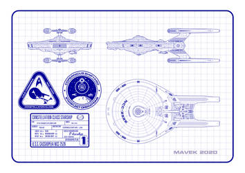 USS Cassiopeia Orthographic