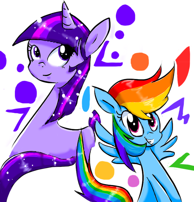 Rainbow Dash and Twilight Sparkle by StalkerShades