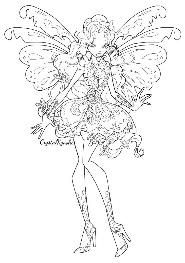 Winx Club Mythix Coloring Pages Www Imgkid Com The