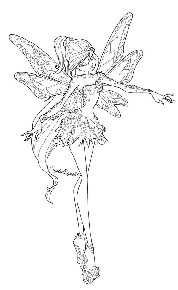 winx club tynix coloring pages - photo#12