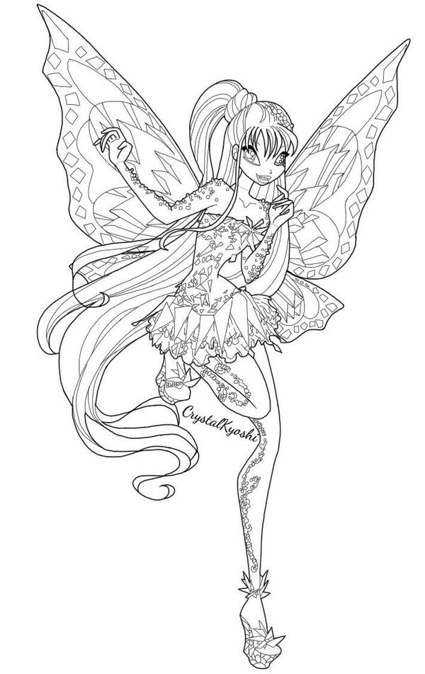Winx Club Mythix Coloring Pages 0425