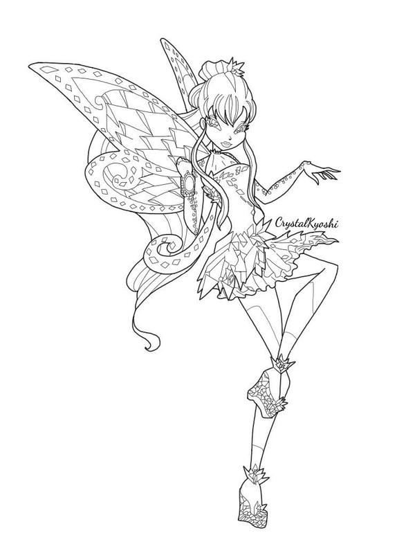 winx club tynix coloring pages - photo#15
