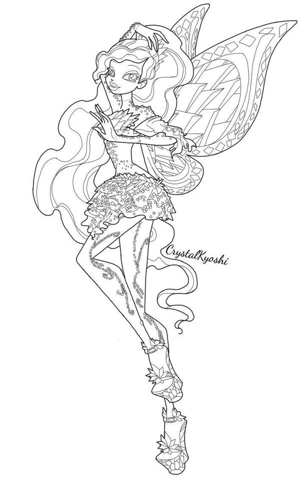 winx club tynix coloring pages - photo#20