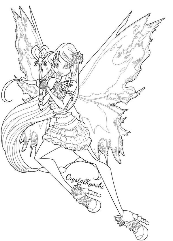 Winx Club Coloring Pages Mythix