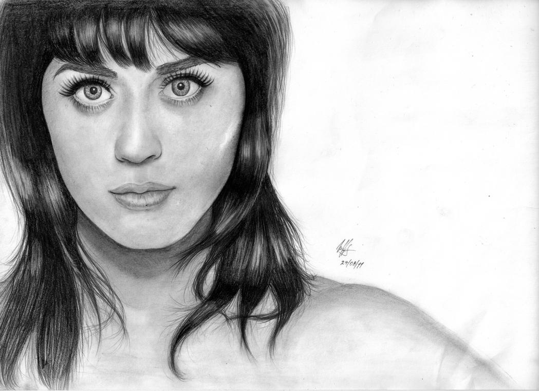 Uncategorized Katy Perry Sketch katy perry or zoey deschanel by woophy on deviantart woophy