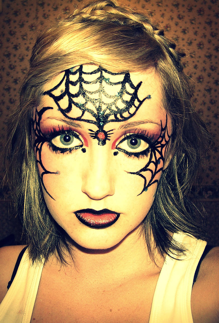 Uncategorized Spiderweb Face Paint spiderweb facepaint by taytay17 on deviantart taytay17
