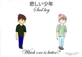 Sad boy Digitally colored vs Traditionally colored by DDesigns0