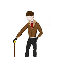 Man in suit with cane by DDesigns0