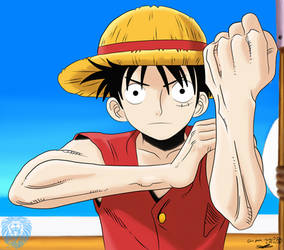 One piece: Monkey D. Luffy by DDesigns0