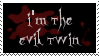 Evil Twin Stamp by peterdawes