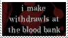 Blood Bank Stamp by peterdawes