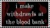 Blood Bank Stamp by peterdawes