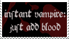 Instant Vampire Stamp by peterdawes
