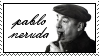 Pablo Neruda Stamp by peterdawes