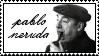 Pablo Neruda Stamp by peterdawes