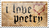 i love poetry stamp