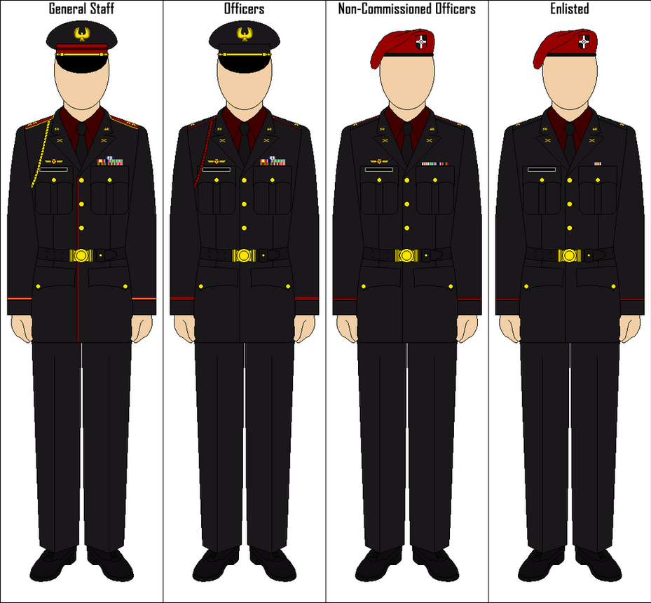 Steel Union Military Dress Uniform By Commietechie On