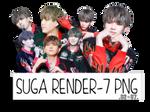 SUGA(BTS) RENDER #1