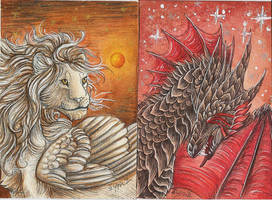 ACEO: Cremell and Darkon by Syphellium