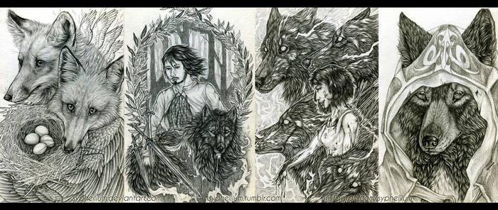 Sketchbook 2013-14: Totem magics