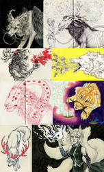 Sketchbook 2014: Odd Critters