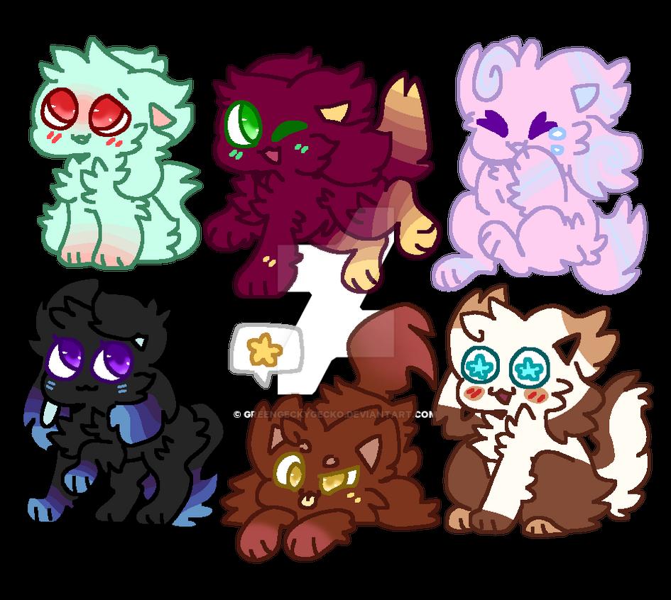 .kittydog adopts. OPEN by GreenGeckyGecko