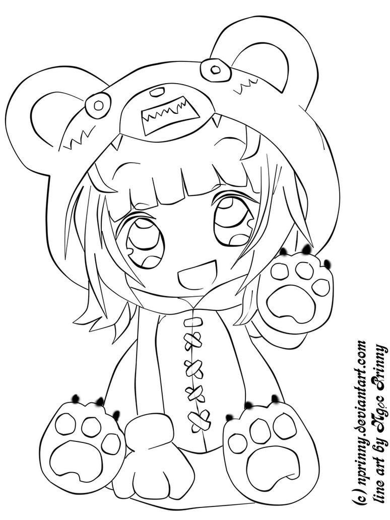cute anime coloring pages - photo#15