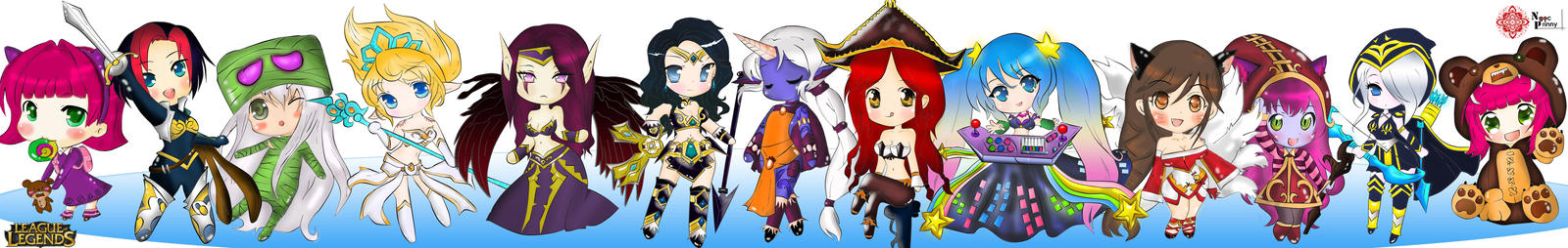Chibi Champions from League of Legends by NPrinny