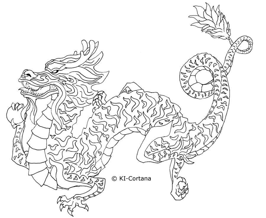 free dragon template by ki cortana on deviantart