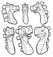 So Many Dino Heads! by secoh2000