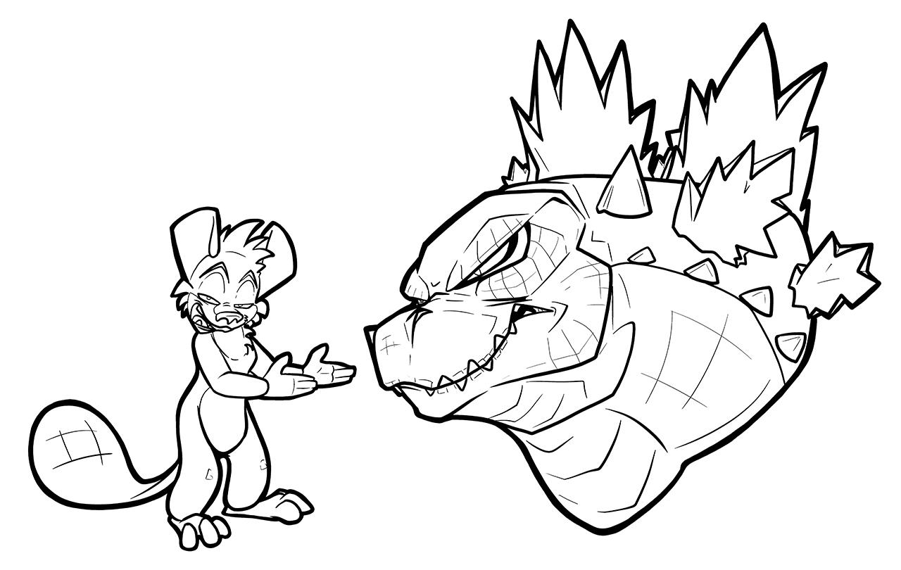 Godzilla Is Fat by secoh2000 on DeviantArt