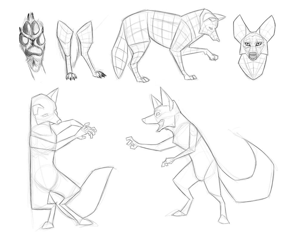 Coyote Reference Sketches - Character Design - PT2 by secoh2000