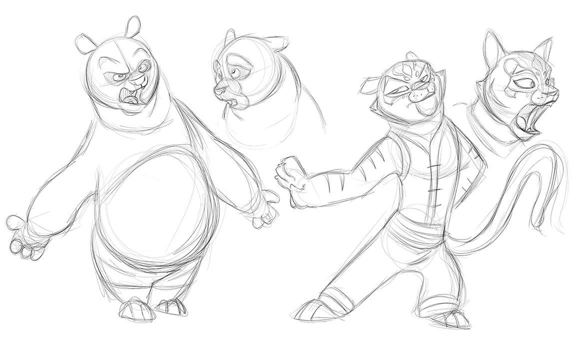 Kung Fu Panda Doodles by secoh2000