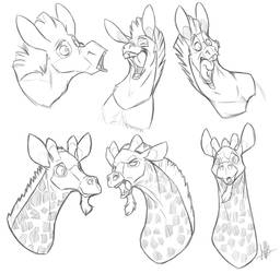 Playing with Long Necks by secoh2000