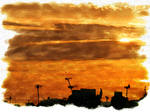 Sunrise water colour