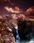 girl in the waterfall
