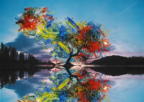 Abstract tree landscpae
