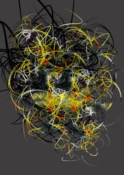 black, yellow and white abstract