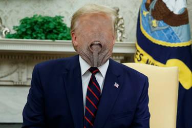 Nellie the elephant went Trump, trump, trump