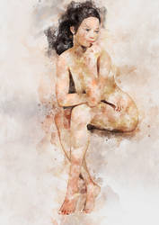 Nude watercolour