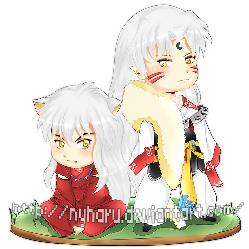 Inuyasha and Sesshomaru by nyharu
