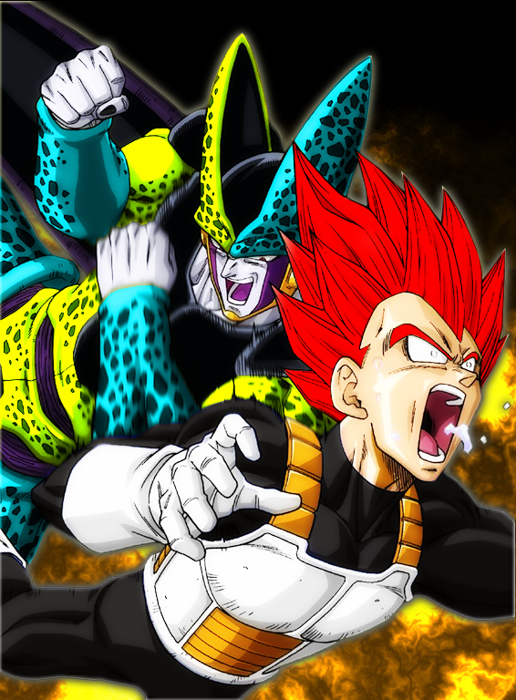 SSGSS Golden Cell vs SSJG Vegeta by Gogeta4810