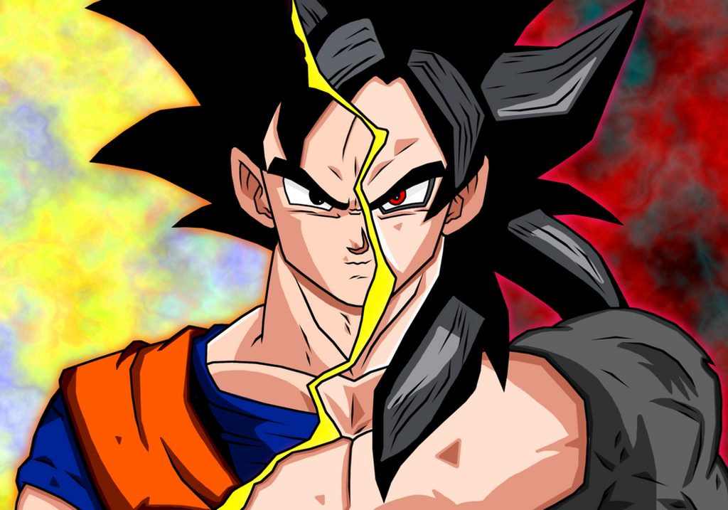 Goku vs GT Black Goku by Gogeta4810
