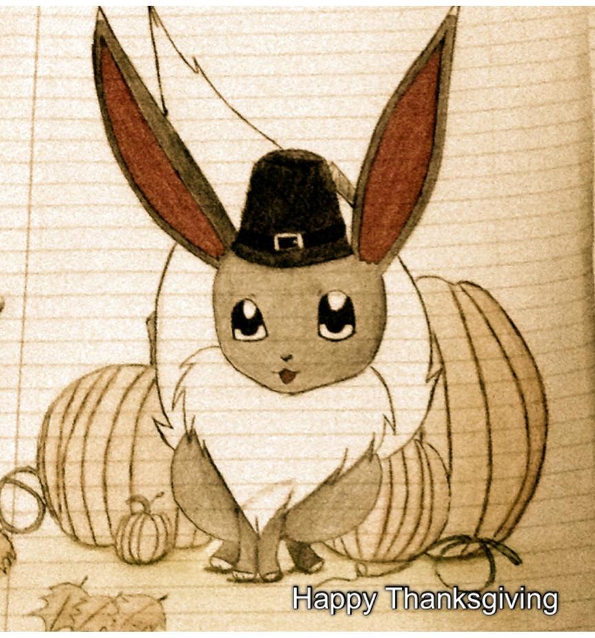 Velvet says Happy Thanksgiving by ashleybroses