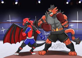 Commission wave 3: Fu vs Anton by GenshiTatsunora