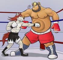 commission wave 3: Paul vs Sento jr part 1 by GenshiTatsunora