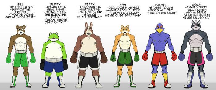 Star fox: Pick your sparring partner