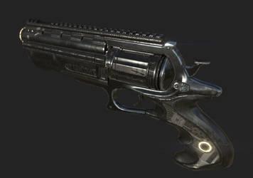 Sci-Fi Revolver Model by 3DSauces