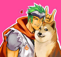 Genji is with doge by Tokei-Yuuki